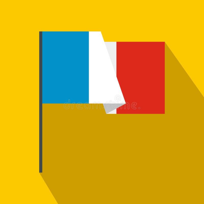 Vlag van het pictogram van Frankrijk, vlakke stijl royalty-vrije illustratie
