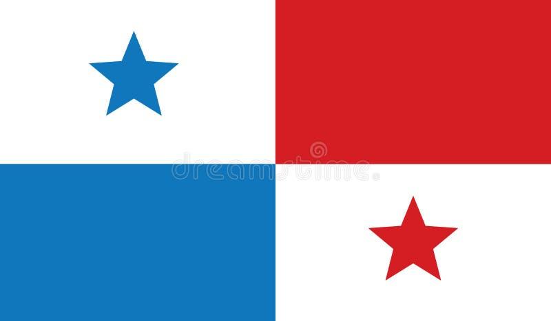 Vlag van het pictogramillustratie van Panama stock fotografie