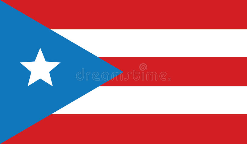 Vlag van het pictogramillustratie van Puerto Rico royalty-vrije stock afbeeldingen