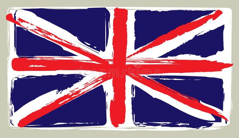 Vlag van het Verenigd Koninkrijk stock illustratie