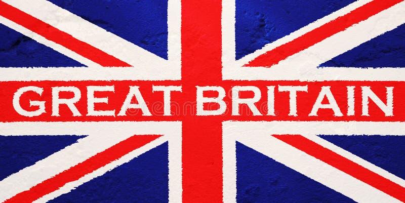 Vlag van het Verenigd Koninkrijk van Groot-Brittannië stock fotografie