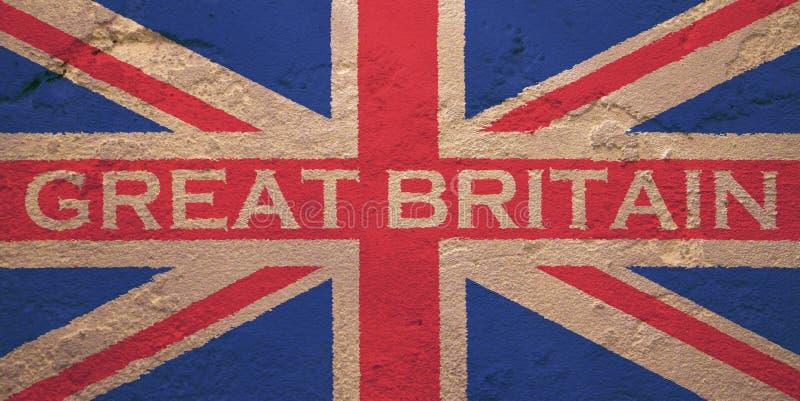 Vlag van het Verenigd Koninkrijk van Groot-Brittannië royalty-vrije stock foto