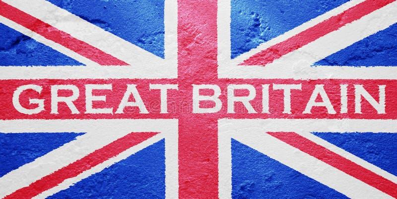 Vlag van het Verenigd Koninkrijk van Groot-Brittannië royalty-vrije stock afbeelding