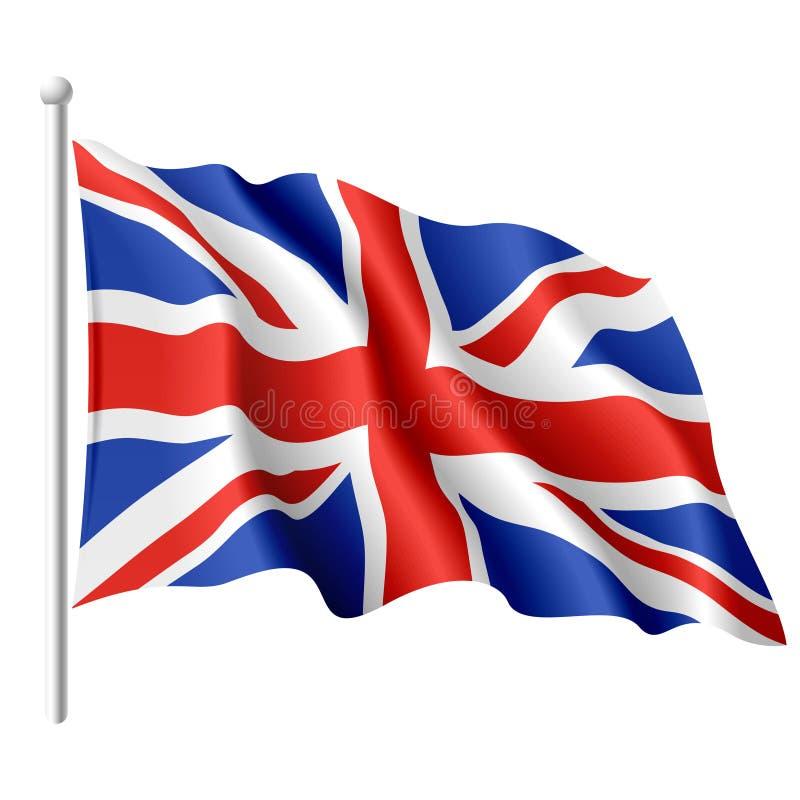 Vlag van het Verenigd Koninkrijk. Vector. vector illustratie