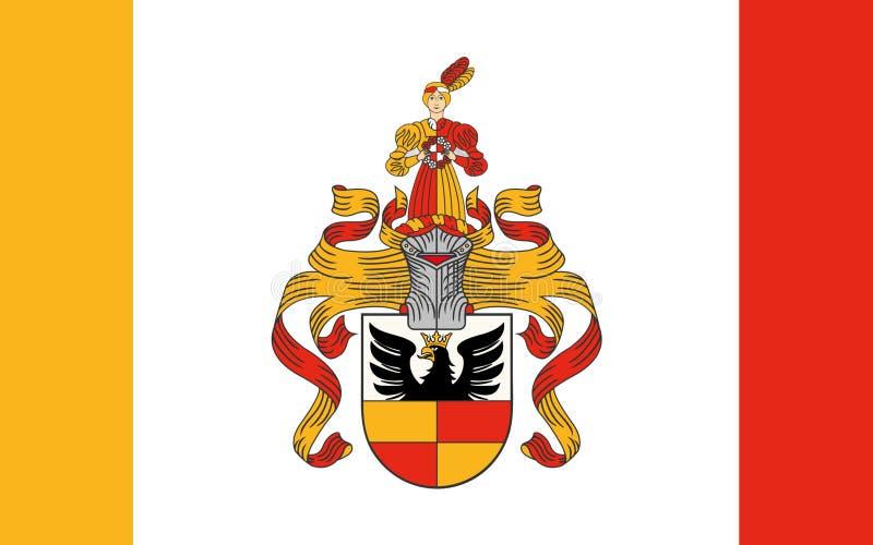 Vlag van Hildesheim van Nedersaksen in het Duits vector illustratie