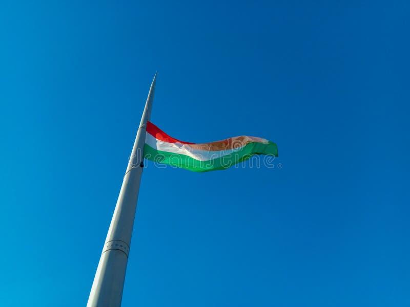 Vlag van Hongarije stock afbeeldingen