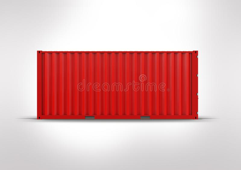Vlag van Hongkong Container in 3D rendering stock foto's