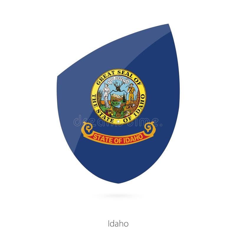 Vlag van Idaho stock illustratie