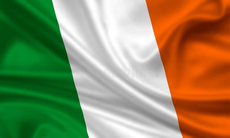 Vlag van Ierland stock illustratie