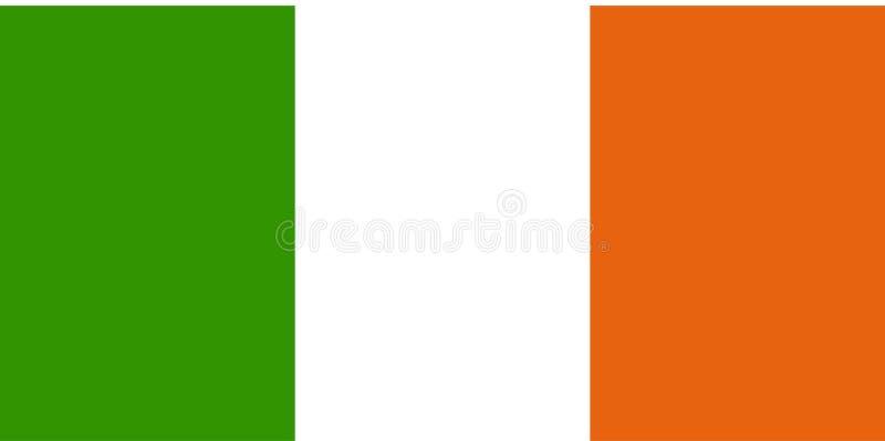 Vlag van Ierland vector illustratie