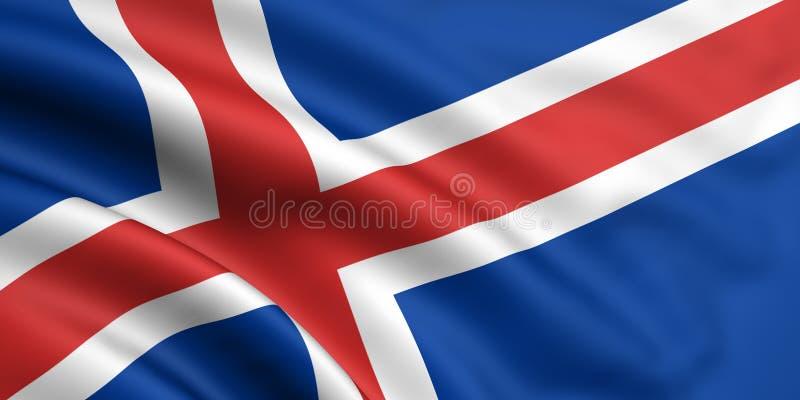 Vlag van IJsland royalty-vrije illustratie