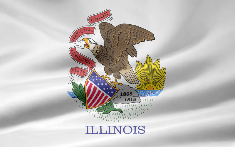 Vlag van Illinois vector illustratie