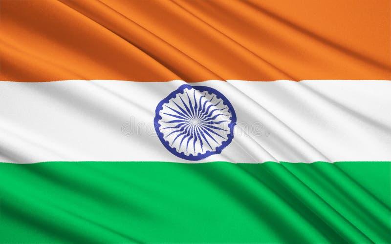 Vlag van India vector illustratie