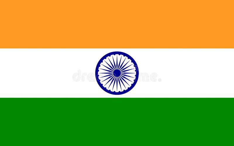 Vlag van India royalty-vrije illustratie