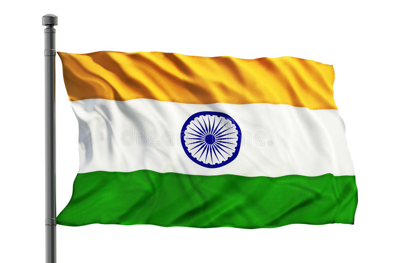 Vlag van India stock afbeeldingen