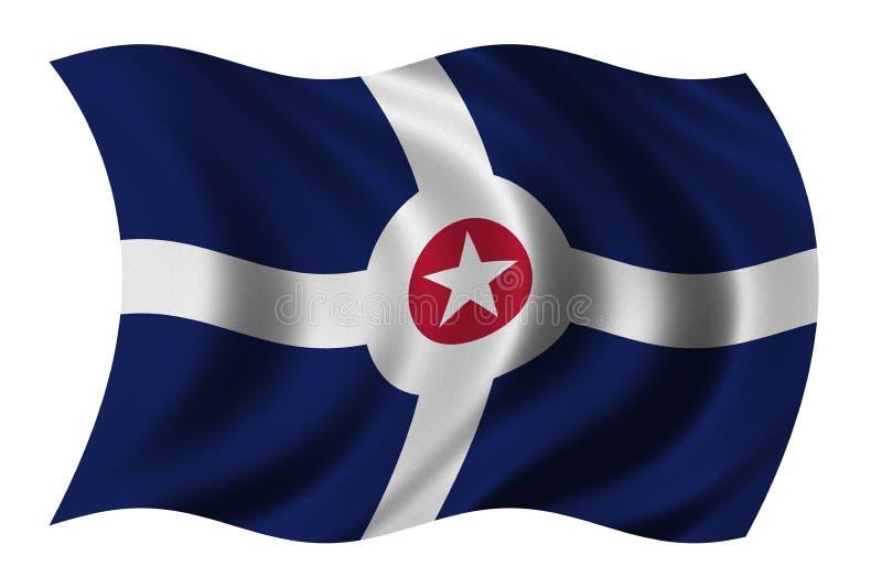 Vlag van Indianapolis vector illustratie