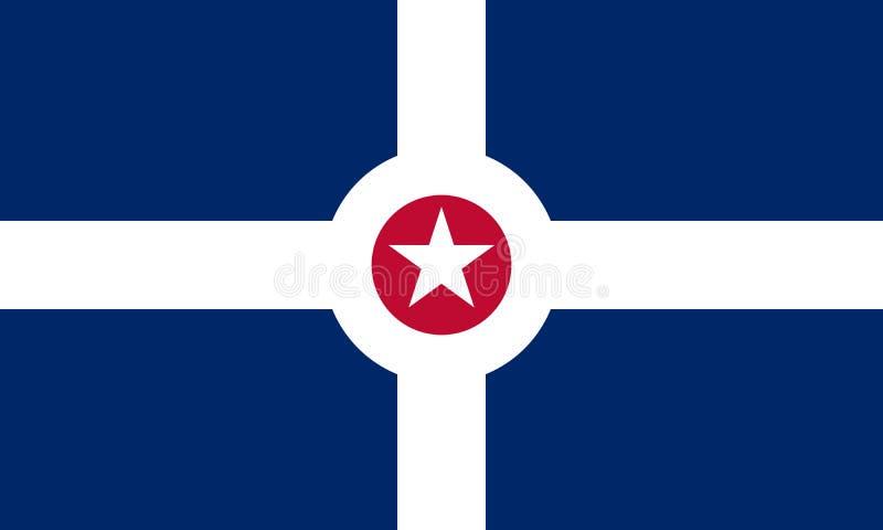 Vlag van Indianapolis, Indiana De Verenigde Staten van Amerika vector illustratie