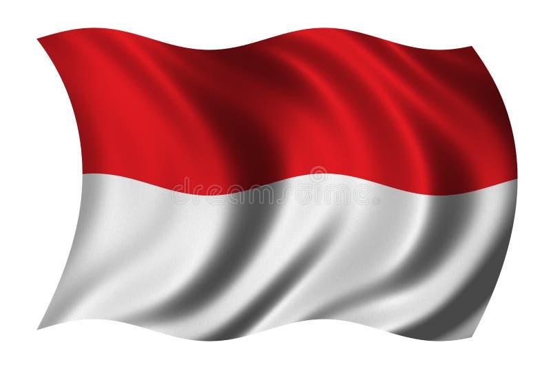Vlag van Indonesië vector illustratie