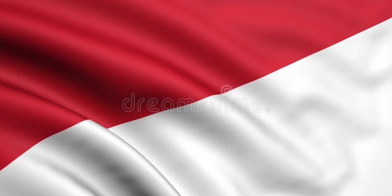 Vlag van Indonesië/Monaco vector illustratie
