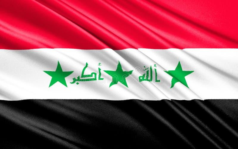 Vlag van Irak vector illustratie