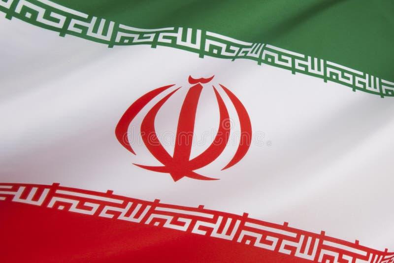 Vlag van Iran royalty-vrije stock afbeeldingen