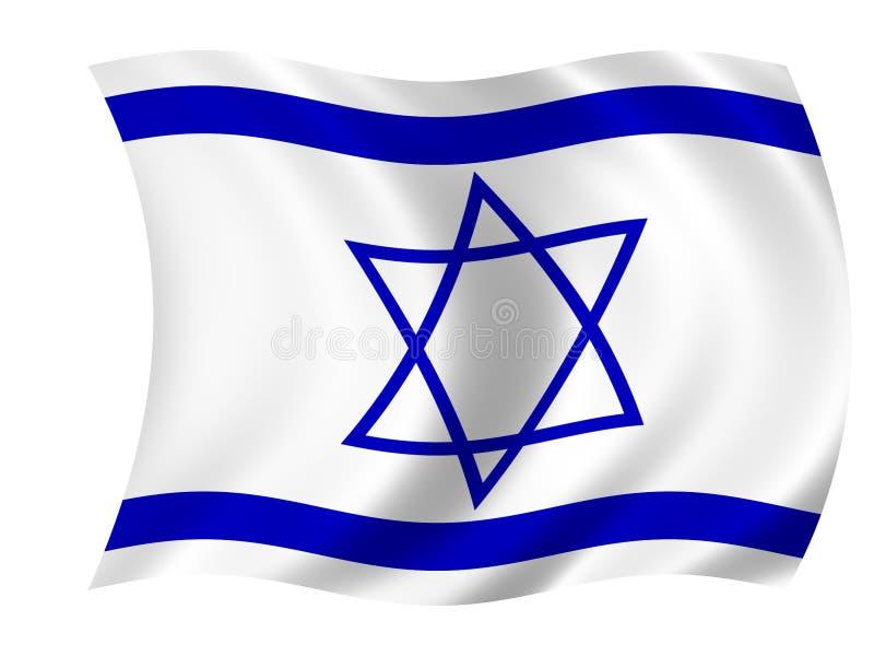 Vlag van Israël royalty-vrije illustratie