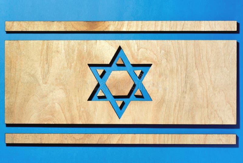 Vlag van Israël, de ster van David stock foto's