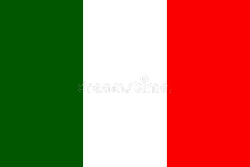 Vlag van Italië royalty-vrije illustratie