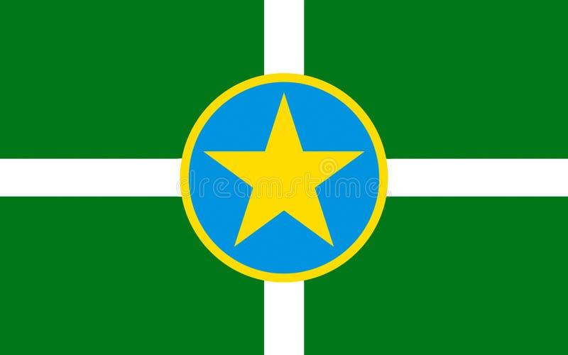 Vlag van Jackson in de Mississippi, de V.S. royalty-vrije stock afbeeldingen
