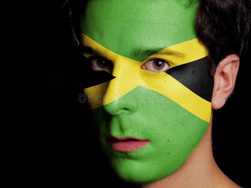 Vlag van Jamaïca stock afbeelding