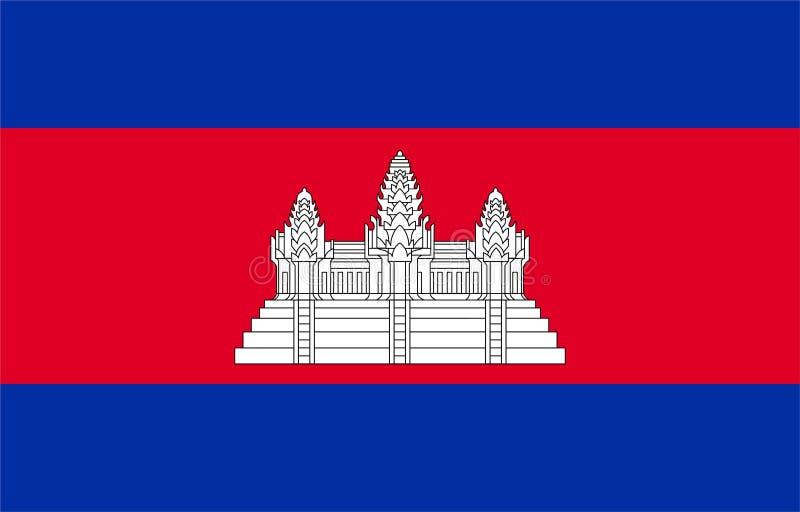 Vlag van Kambodja royalty-vrije illustratie