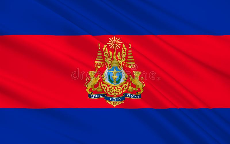 Vlag van Kambodja stock illustratie
