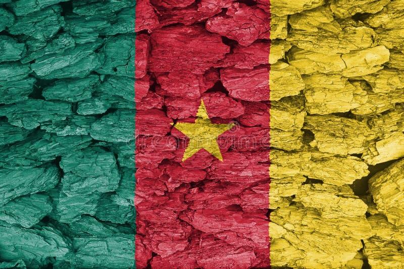 Vlag van Kameroen royalty-vrije illustratie