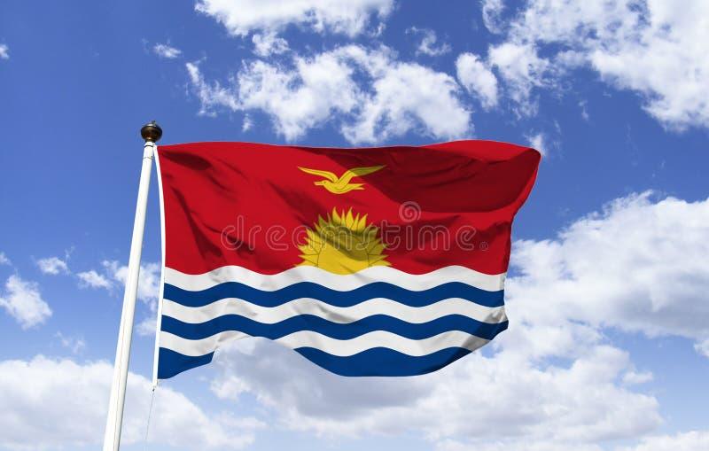 Vlag van Kiribati de macht van het overzees stock foto