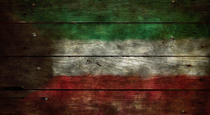 Vlag van Koeweit stock foto