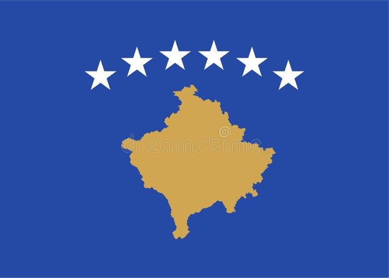 Vlag van Kosovo royalty-vrije illustratie