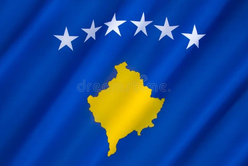 Vlag van Kosovo stock afbeeldingen