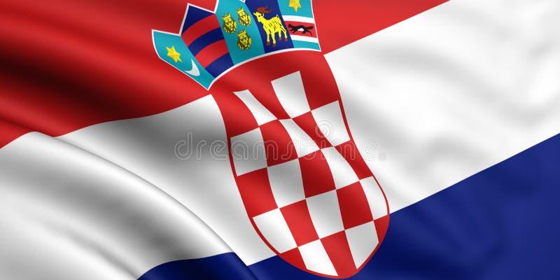 Vlag van Kroatië vector illustratie
