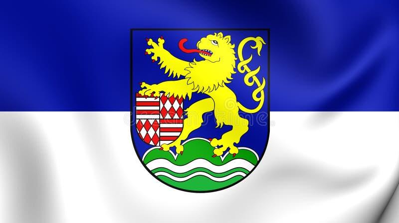 Vlag van Kyffhauserkreis-District, Duitsland stock illustratie