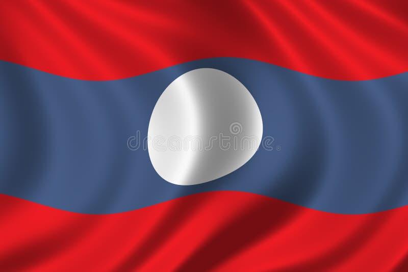 Vlag van Laos stock illustratie
