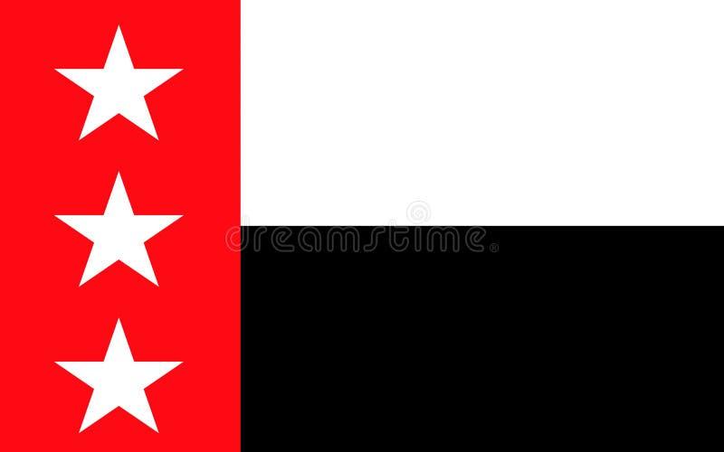 Vlag van Laredo in Texas, de V.S. royalty-vrije stock afbeeldingen