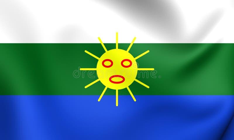 Vlag van Las Piedras, Puerto Rico vector illustratie