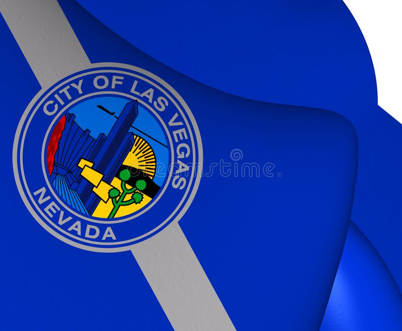 Vlag van Las Vegas, de V.S. royalty-vrije illustratie