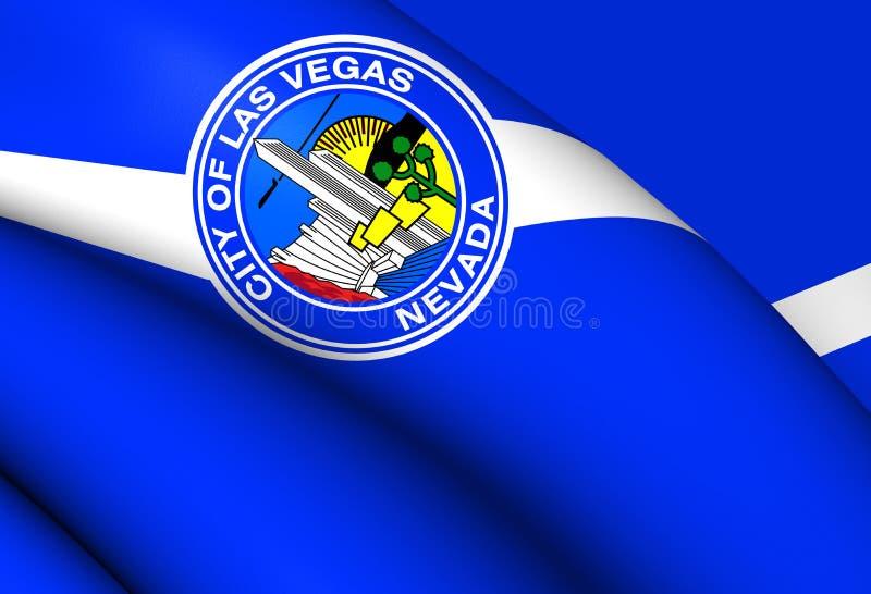 Vlag van Las Vegas, de V.S. vector illustratie