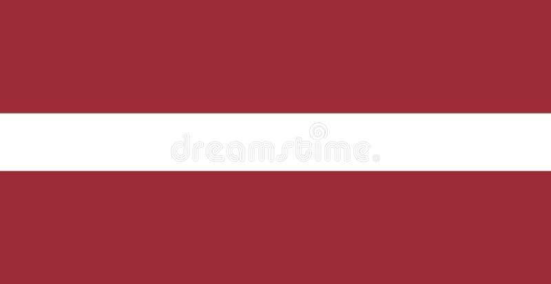 Vlag van Letland vector illustratie