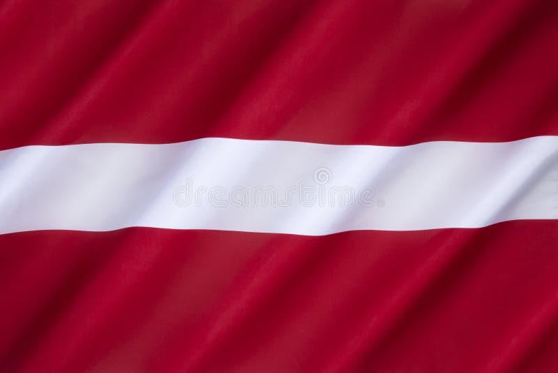 Vlag van Letland stock afbeeldingen