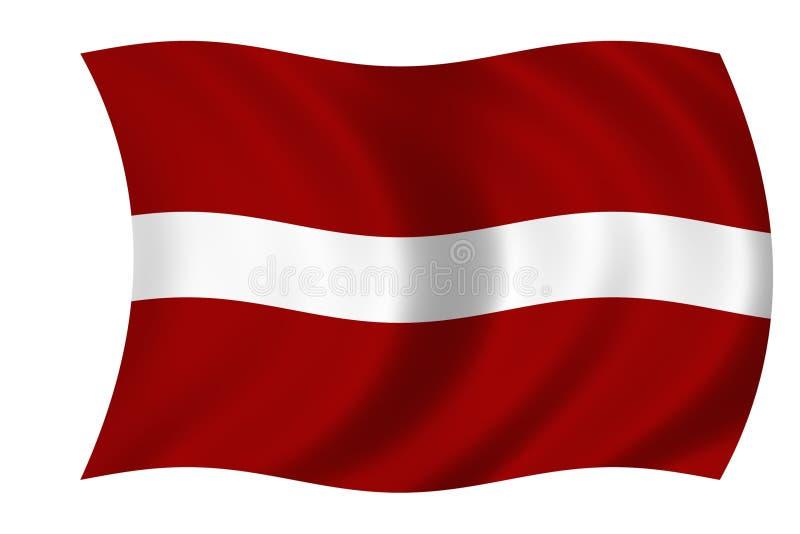 Vlag van Letland stock illustratie