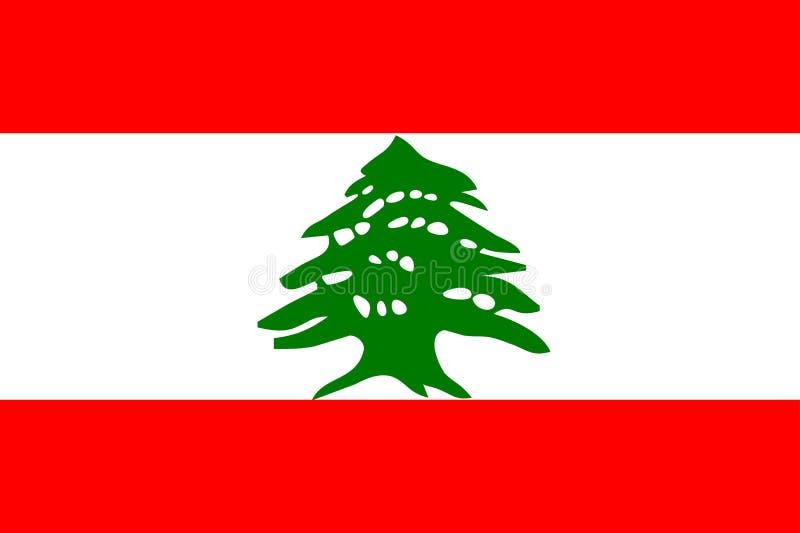 Vlag van Libanon vector illustratie