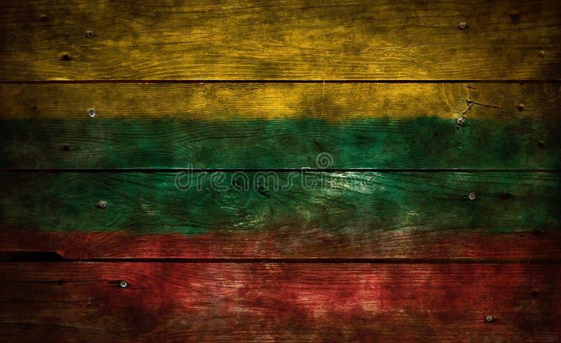 Vlag van Litouwen stock afbeeldingen