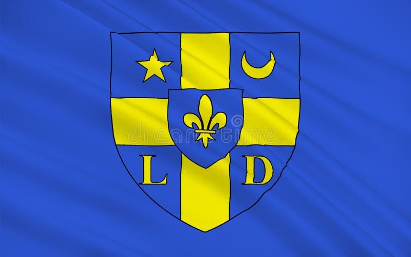 Vlag van Lodeve, Frankrijk stock foto
